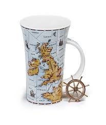 sea areas of the british isles shipping forecast mug in fine