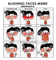 What Face Meme - edd double d blushing faces meme by 4swords4ever on deviantart