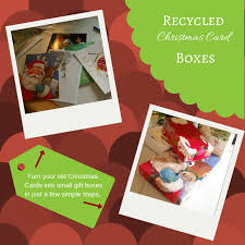 recycled christmas card boxes the free range life