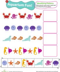 identifying patterns aquarium fun worksheet education com