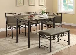 dining room dining table set with bench and floor grey nila homes