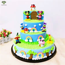 duck cake 6pcs 1set mickey mouse minni donald duck cake topper gifts doll