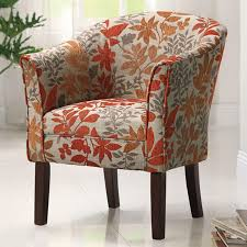 Pattern Chairs Orange Accent Chair With Arms Modern Chairs Quality Interior 2017