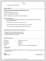 resume format for freshers engineers eceti over 10000 cv and resume sles with free download free resume