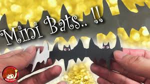 how to make bats paper chain for halloween elieoops youtube