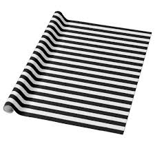 black and white wrapping paper black and white stripes wrapping paper zazzle