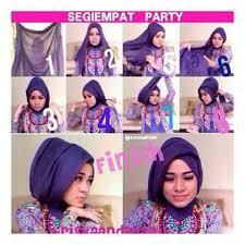 tutorial hijab pesta 2 kerudung cara berhijab segi empat untuk pesta cara berhijab pashmina untuk