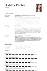 ppc resume sample gallery creawizard com