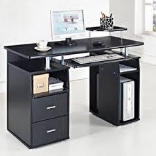 computer and printer table amazon com computer desk pc table desktop workstation w monitor