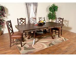 sunny designs dining room santa fe adj height dining table with