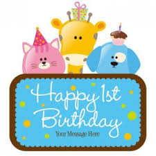 happy birthday 1st boy birthday free backgrounds free vector