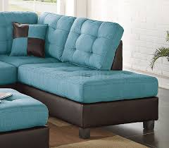 Teal Sectional Sofa Sectional Sofa 3pc In Teal Fabric By Boss