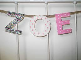 lettres pour chambre bébé guirlande prénom 3 lettres bébé coton boutique en ligne