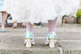 wedding shoes irregular choice colourful wedding in kent rock n roll