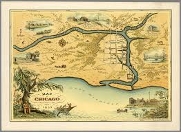 Chicago On The Map by A Map Of The