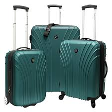 ultra light luggage sets travelers choice cape verde 3 piece ultra lightweight hardsided