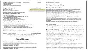 Catholic Mass Wedding Programs Ceremony Programs Weddingbee