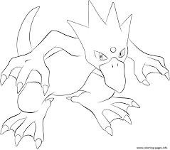055 golduck pokemon coloring pages printable