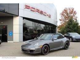grey porsche 911 convertible 2012 meteor grey metallic porsche 911 carrera 4 gts cabriolet