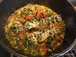 cuisine fr recette sauce feuilles de patates douces au gombo et huile plat