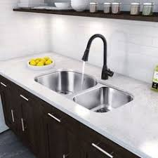 Kitchen Sinks Stainless Steel by Rubbed Bronze Faucets With A Stainless Steel Sink Kitchen Bar