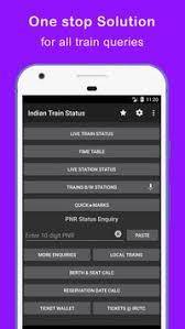 indian railway apk indian railway status apk free travel local app