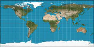 Map With Longitude And Latitude Equirectangular Projection Wikipedia