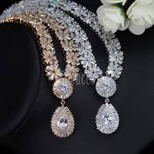 cubic zirconia necklace sets images Exclusive luxury cubic zirconia necklace earring bracelet party jpg