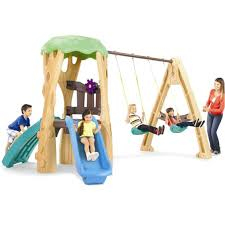 tree house swing set at tikes