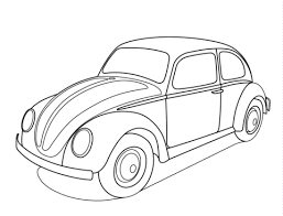 volkswagen beetle coloring free printable coloring pages