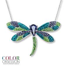 kay jewelers charmed memories kay dragonfly necklace swarovski elements sterling silver