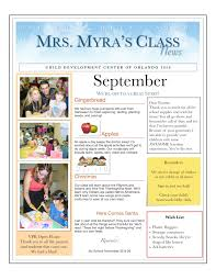 monthly preschool newsletter template inspirational centers and