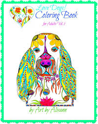 free love dogs coloring book adults vol 1 multiple