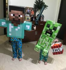 minecraft steve costume 6 steps with pictures