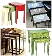 what are nesting tables metallic nesting tables alluring metal and wood tags marvelous round