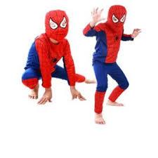Spandex Halloween Costumes Kids Spiderman Costume Child Superhero Cosplay Elastic Jumpsuit