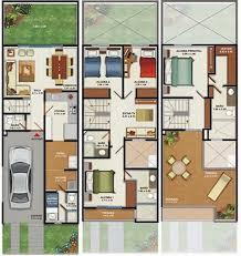 3 floor house plans 160m2 house plans 3 floors 4 bedrooms home plans design free