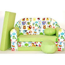 canapé enfants canape sofa enfant 2 places convertible animaux vert achat