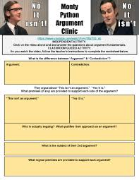 using monty python to teach students the fundamentals of argument