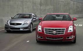 compare cadillac cts and xts 2011 cadillac cts coupe vs 2010 infiniti g37 coupe comparison