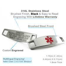 engraved bracelets kids boys girls medical alert id bracelet custom engraved tag