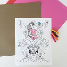 elena of avalor coloring page disney family