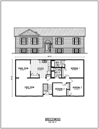 split ranch floor plans floor plan for sq ft house in kerala ranch style plans small
