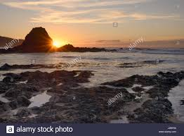 Beach House Bude by Black Rock Beach At Sunset Widemouth Bay Near Bude Cornwall Uk
