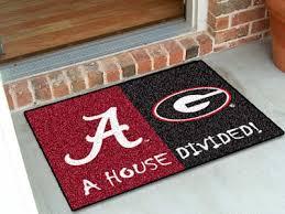 Georgia Bulldog Rugs Alabama Crimson Tide Vs Georgia Bulldogs House Divided Floor Mat