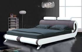 Modern Queen Size Bed Designs Amazoncom Baxton Studio Sabrina Black Modern Bed With Overstuffed