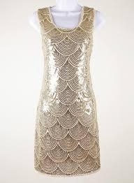 new 1920 vintage gatsby flapper charleston sequin gold evening
