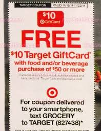 its back free 10 gift card with a 50 food purchase at target