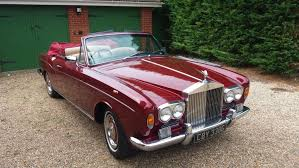 roll royce modified 1968 rolls royce silver shadow convertible being auctioned at