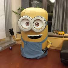 cardboard minion halloween costume with pictures